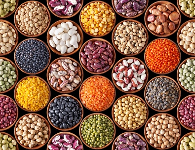 Seamless texture with legumes